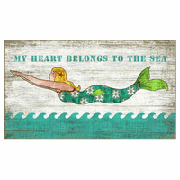 Mermaid Waves Sign