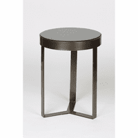 Metal and Stone Accent Table - Antique Brass