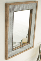 Metal Lattice Framed Wall Mirrror