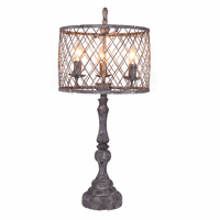Metal Lattice Table Lamp