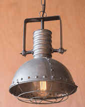 Metal Pendant Light with Cage - OVERSTOCK