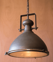 Metal Pendant Light with Glass Cover