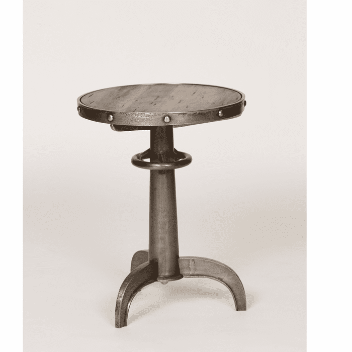 Beach Style Furniture Metal Table With Wood Insert Bella