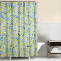 Miami Beach Green Shower Curtain