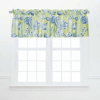 Miami Beach Green Valances - Set of 2
