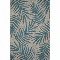 Miki Gray & Aqua Indoor/Outdoor Rug Collection