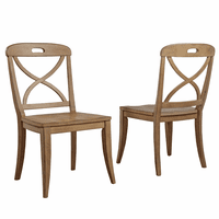 Millbrook X-Back Sand Dining Side Chairs - Set of 2