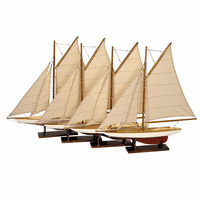 Mini Pond Yacht Models - Set of 4