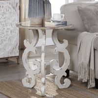 Mirrored Scroll Accent Table