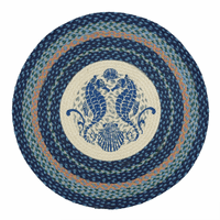 Mirrored Seahorse Round Rug - OVERSTOCK