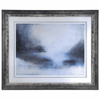 Misty Morning Horizon Framed Art