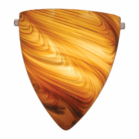 Mocha Swirl Glass Wall Sconce - 9 x 9