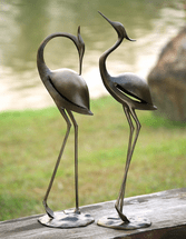 Modern Herons Statuary - Set of 2