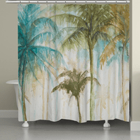 Modern Palms Shower Curtain