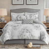 Monotone Ocean 6pc Comforter Set - Queen