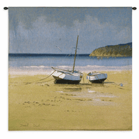 Moorings Low Tide Small Wall Tapestry