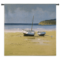 Moorings Low Tide Wall Tapestry