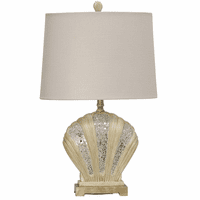 Mosaic Clamshell Table Lamp with Nightlight
