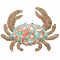 Mosaic Crab Wall Art