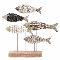 Mosaic Shell Fish Sculpture