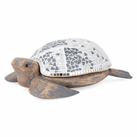 Mosaic Turtle with Storage Compartment