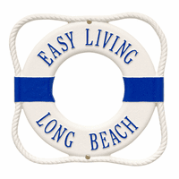 Multi-colored Personalized Life Ring Plaque