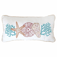 Multi Shells Embroidered Pillow