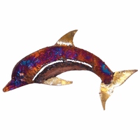 Multicolor Copper Dripped Dolphin - Large