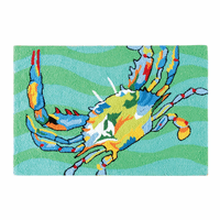 Multicolor Crab Hooked Rug