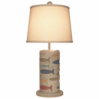 Multicolor Cutout School of Fish Accent Lamp