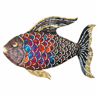 Multicolor Scaled Copper Dripped Fish - Large