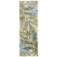 Multicolor Tropical Palms Rug - 2 x 8