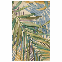 Multicolor Tropical Palms Rug - 3 x 5
