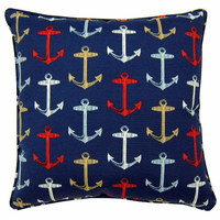 Multicolored Anchor Indoor/Outdoor Pillow