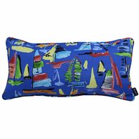 Multicolored Boats Indoor/Outdoor Pillow - 24 x 12
