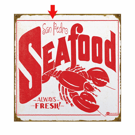 Mummert Seafood Personalized Sign - 18 x 18