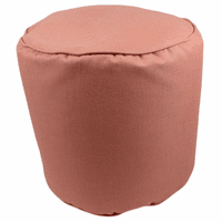 Muted Coral Indoor/Outdoor Round Pouf