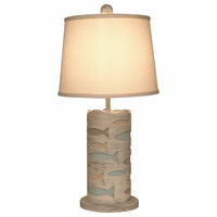 Muted Cutout School of Fish Accent Lamp
