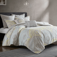 Muted Medallion 7 Piece Comforter Set - Full/Queen