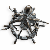 Octopus & Ship's Wheel Wall Plaque