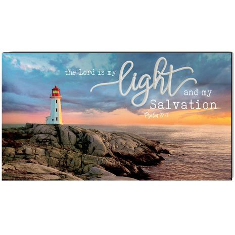 My Light and Salvation Wrapped Canvas Art