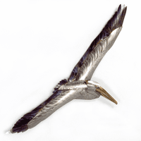 Mykonos Flying Pelican I Metal Wall Art
