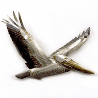 Mykonos Flying Pelican III Metal Wall Art