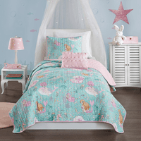 Mystical Mermaid Reversible Coverlet Set - Full/Queen