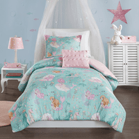 Mystical Mermaid Reversible Coverlet Set - Twin