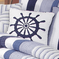 Nantucket Dream Ship's Wheel Pillow