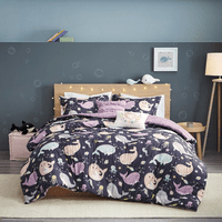 Narwhal Dreams Reversible Comforter Set - Full/Queen