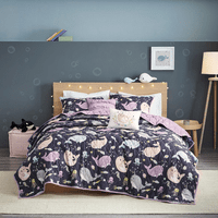 Narwhal Dreams Reversible Coverlet Set - Full/Queen