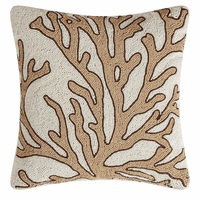 Natural Coral Beaded Pillow