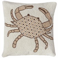 Natural Crab Beaded Accent Pilow